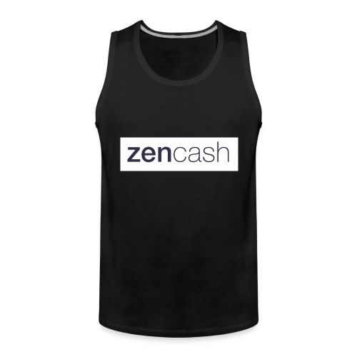 ZenCash CMYK_Horiz - Full - Men's Premium Tank Top
