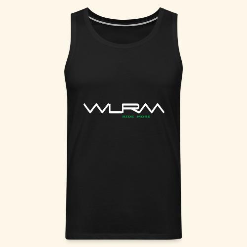 WLRM Schriftzug white png - Männer Premium Tank Top