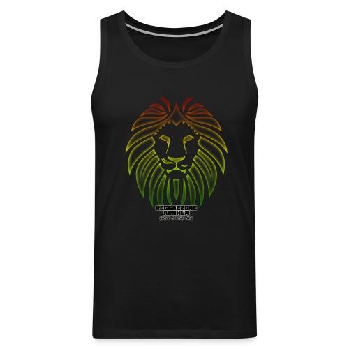 reggaezone lion TSHIRTONTWERP1 png - Mannen Premium tank top