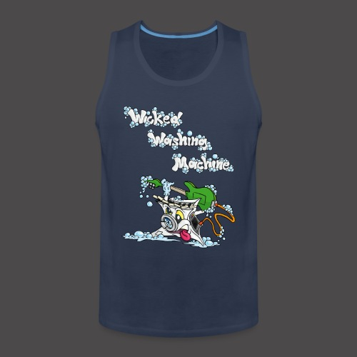 Wicked Washing Machine Cartoon and Logo - Mannen Premium tank top