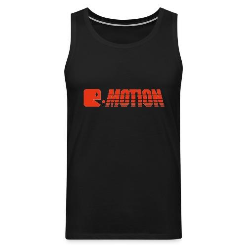 E MOTION LOGO T Shirt ROT gif - Männer Premium Tank Top