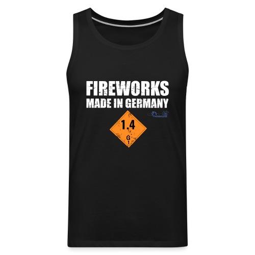Feuerwerk aus Deutschland Pyrotechnik - Männer Premium Tank Top