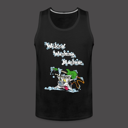 Wicked Washing Machine Cartoon and Logo - Mannen Premium tank top