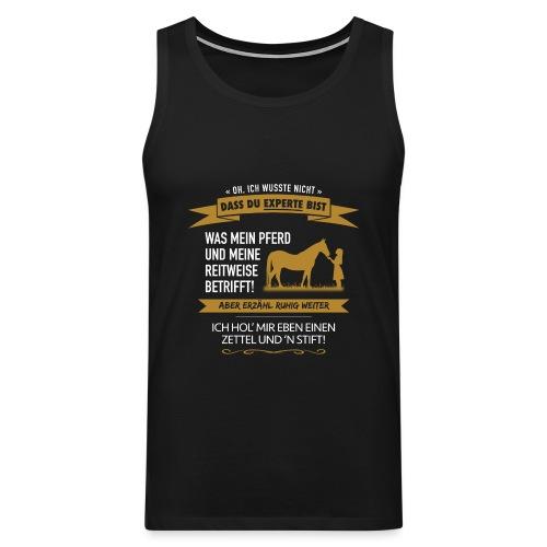 Pferde-Experten! - Männer Premium Tank Top