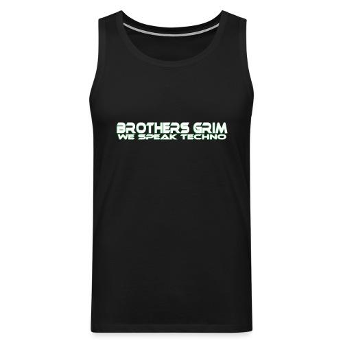 brothers grim WHT GRN copy png - Men's Premium Tank Top