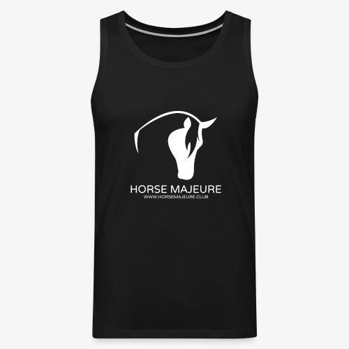 Horse Majeure Logo / Valkoinen - Miesten premium hihaton paita