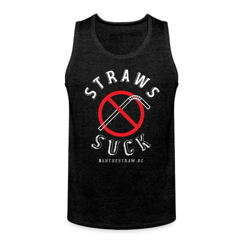 Back In Black with our Classic Logo - Men's Premium Tank Top