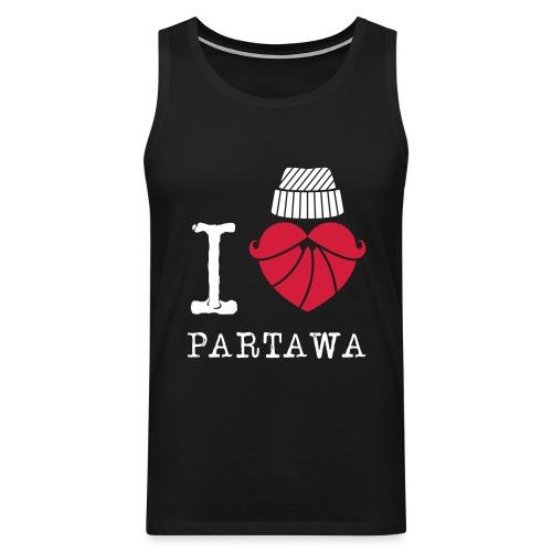 I love Partawa paita - Miesten premium hihaton paita