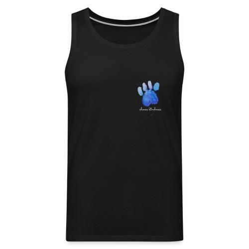 Tierfreund Choose Kindness Hundepfote Wasserfarben - Männer Premium Tank Top