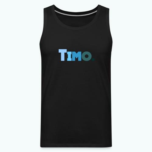 Timo in blauwe tinten - Mannen Premium tank top