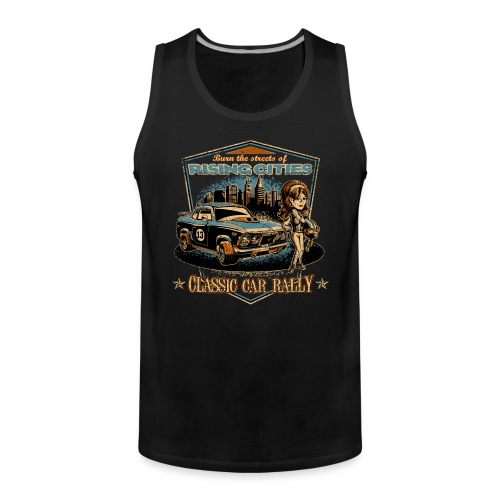 risingcities classiccarrally - Männer Premium Tank Top