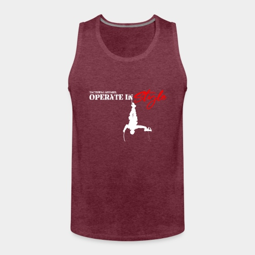 Hang in there & operate in style - Men's Premium Tank Top