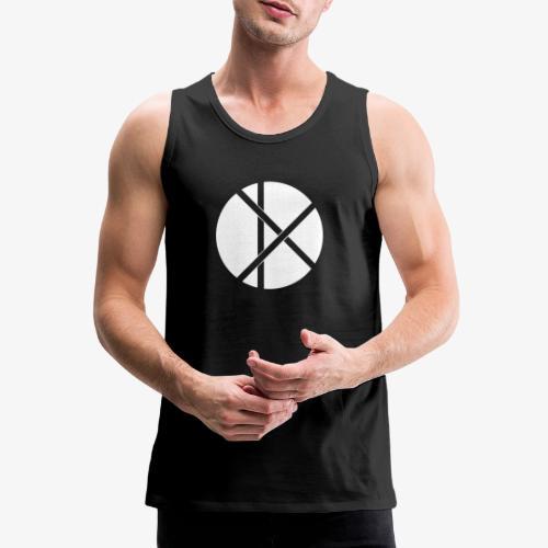 Don Logo - valkoinen - Miesten premium hihaton paita