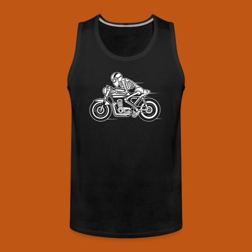 Cafe Racer Motorrad 05_weiß - Männer Premium Tank Top