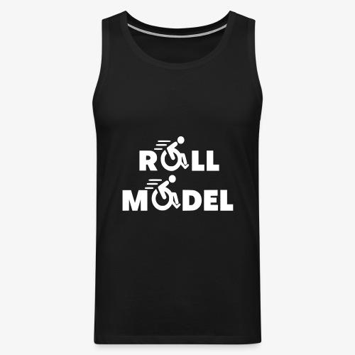 Elke rolstoel gebruiker is een roll model - Mannen Premium tank top