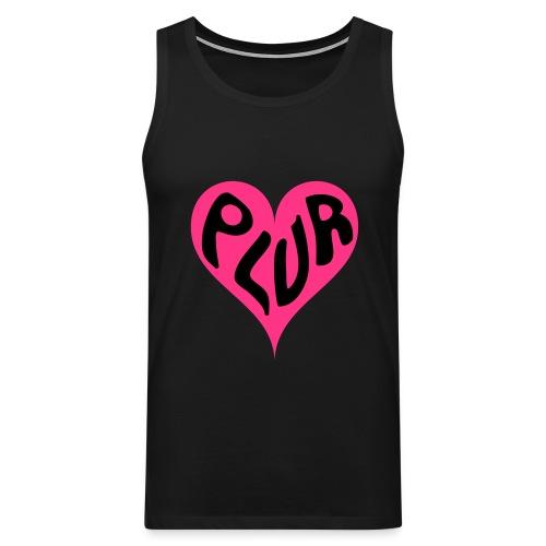 PLUR - Peace Love Unity and Respect love heart - Men's Premium Tank Top