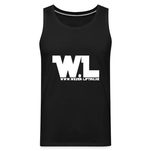 WL - vorn - weis - Männer Premium Tank Top