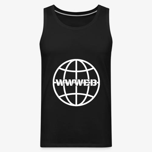 WWWeb (white) - Men's Premium Tank Top