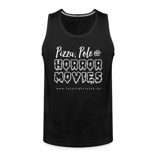 Pizza, Pole and Horrormovies - WHITE - Männer Premium Tank Top