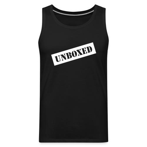 Get UNBOXED now!! by Brilliant Voices - Männer Premium Tank Top