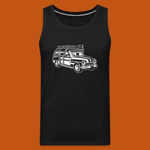 Chevy Cadilac Woodie / Oldtimer Kombi 01_weiß - Männer Premium Tank Top