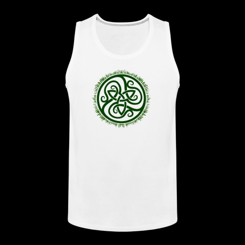 Green Celtic Triknot - Men's Premium Tank Top