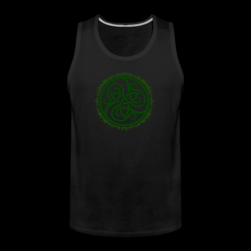 Green Celtic Triknot - Men's Premium Tank Top