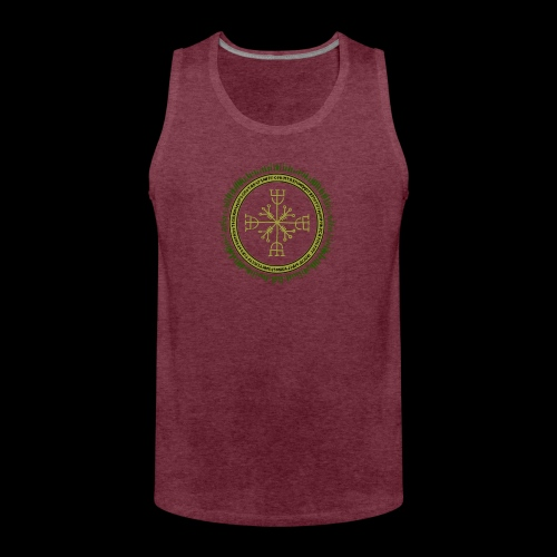 Norse Runes with Aegishjalmur 2017 - Men's Premium Tank Top