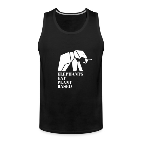 Elephants Eat Plant Based - Männer Premium Tank Top