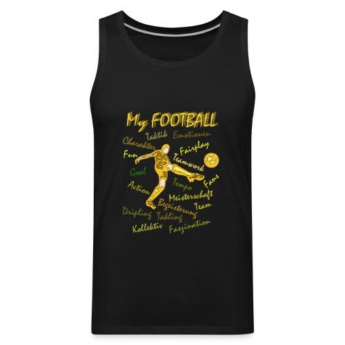 My Football braun - Männer Premium Tank Top
