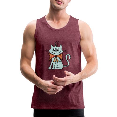 NIedliche blaue Katze - Männer Premium Tank Top
