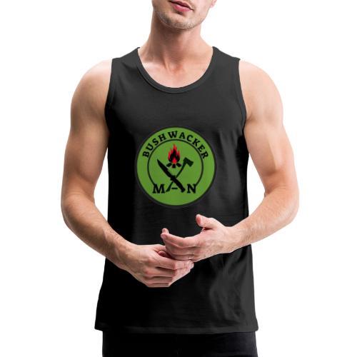 bushwackers logo green - Men's Premium Tank Top