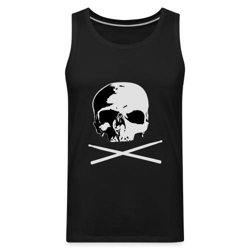 skull and sticks - Männer Premium Tank Top