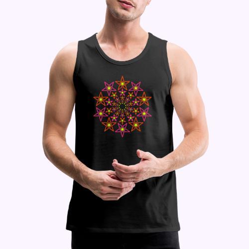 fractal star 3 väri neon - Miesten premium hihaton paita
