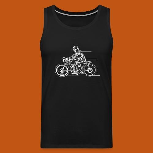 Cafe Racer Motorrad 04_weiß - Männer Premium Tank Top
