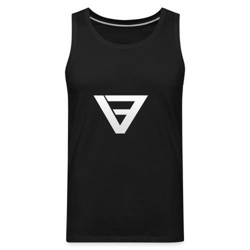 V9 Logo White - Men's Premium Tank Top