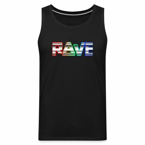 Rave Neon Rainbow Psy Text Techno Family - Männer Premium Tank Top