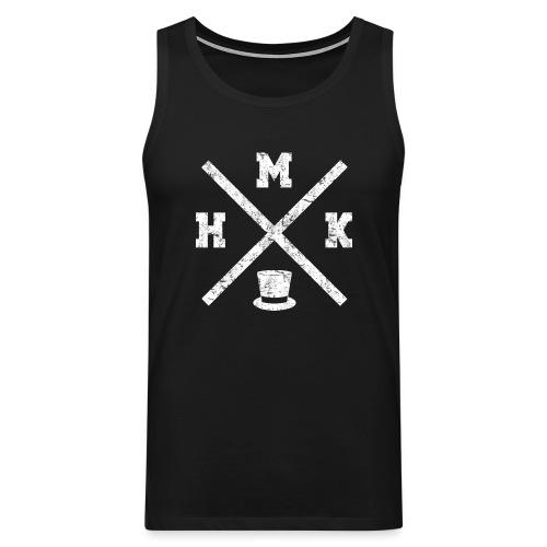 hmkvalkoinen - Miesten premium hihaton paita