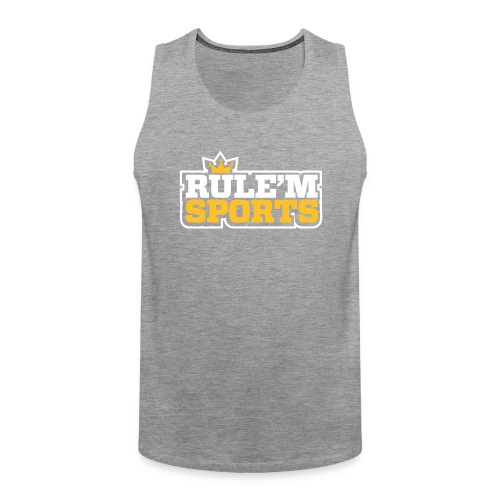 rulem sports vector white outline - Men's Premium Tank Top