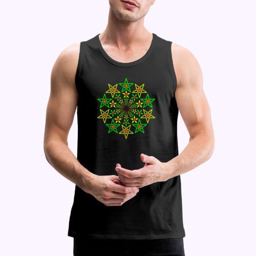 Fractal Star 3 -värinen neon - Miesten premium hihaton paita