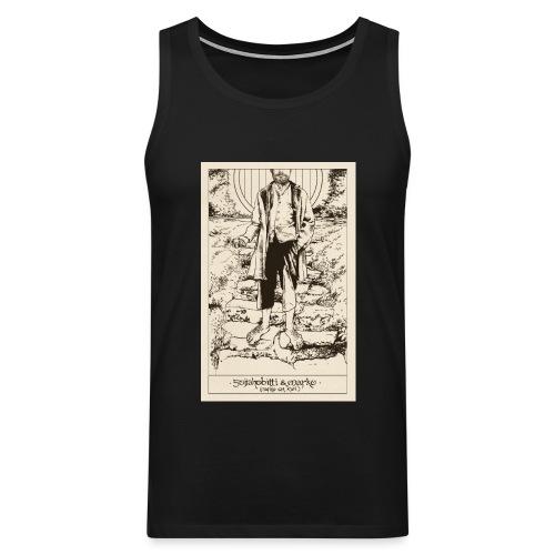 Soijahobitti ja Marko (mustavalkoinen) - Miesten premium hihaton paita