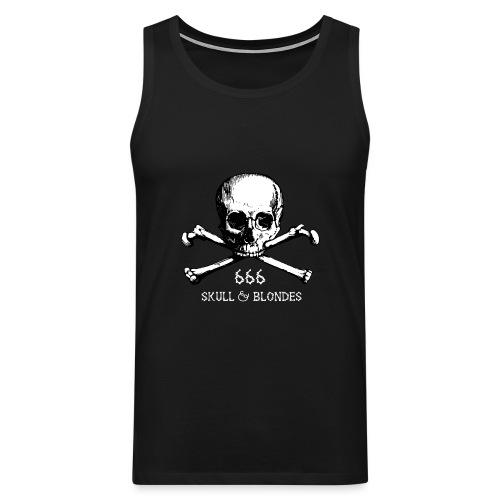 skull & blondes (white) - Männer Premium Tank Top
