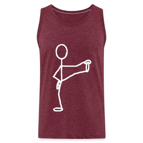 Yoga stickman - Débardeur Premium Homme