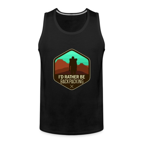I'd Rather Be Backpacking - Männer Premium Tank Top