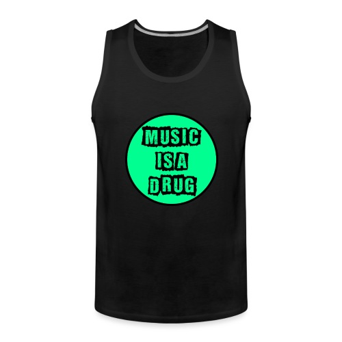 Music is a drug - Männer Premium Tank Top