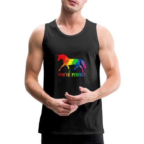 Regenbogen Einhorn - You´re perfect - Männer Premium Tank Top
