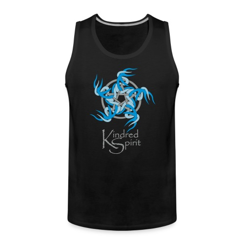 Kindred Spirit Symbol with Words - Men's Premium Tank Top
