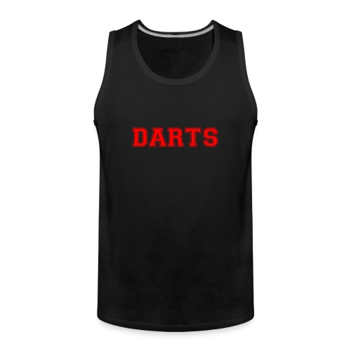 DARTS - Schriftzug in rot - Männer Premium Tank Top