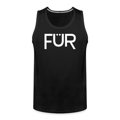 fuer shirt white 01 - Men's Premium Tank Top