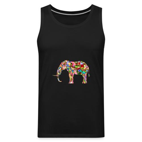 Gestandener Elefant - Männer Premium Tank Top